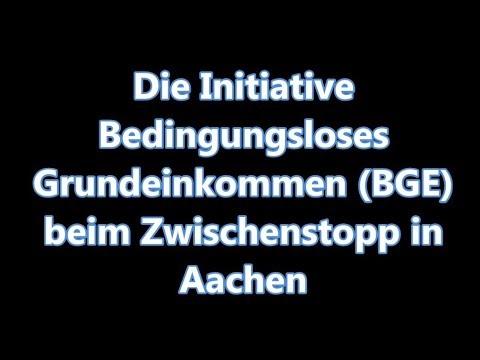 """NSC #125: Zwischenstopp der Initiative """"Bedingungsloses Grundeinkommen"""" auf ihrer Tour in Aachen."""