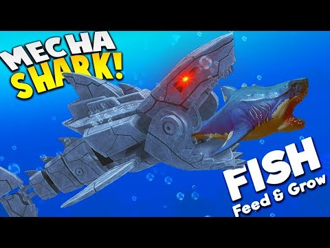 *NEW* KILLER MECHA SHARK! | Feed And Grow Fish