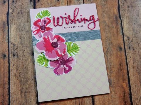 Layering Stamp Mini Series   Hero Arts Color Layering Hibiscus   Day 2 of 3
