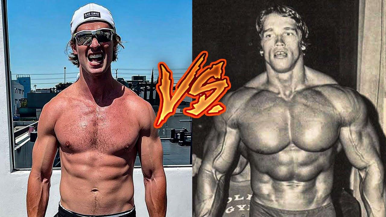 Natty Vs. Juiced - Arnold Schwarzenegger And His Son