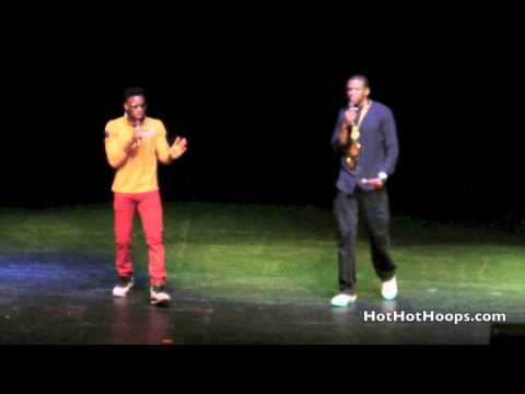 """Battioke 2014 - Miami HEAT players James Jones and Norris Cole sing """"Holy Grail"""" by Jay-Z"""