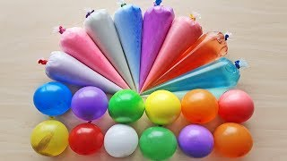 Making slime with Piping Bags and Balloons