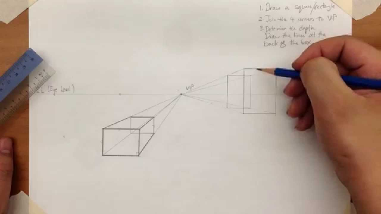 how to make one point perspective