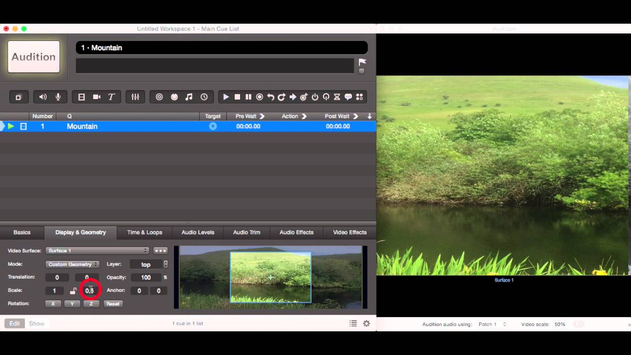 23 Qlab 3 Video Editing Scale and Rotation