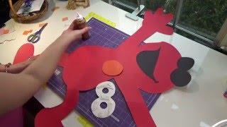 Cutting Off the Mat with my Cricut! Elmo