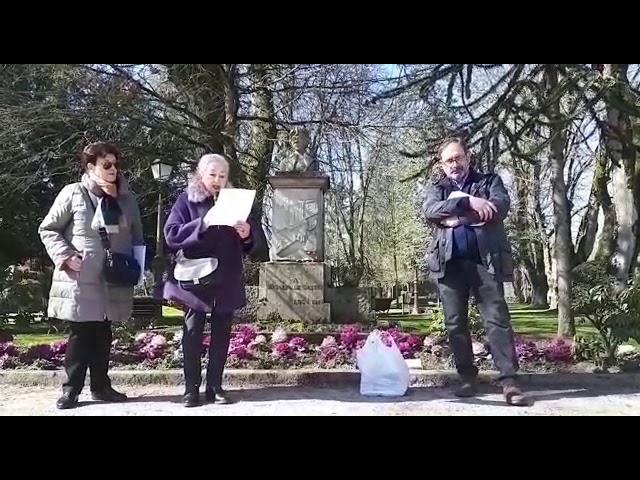 Lugo rinde homenaje a Rosalía con una lectura de sus poemas