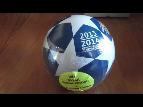 UNBOXING NORDIC COLLECTOR BALL panini ADRENALYN XL CHAMPIONS LEAGUE 2013-14 Trading Cards
