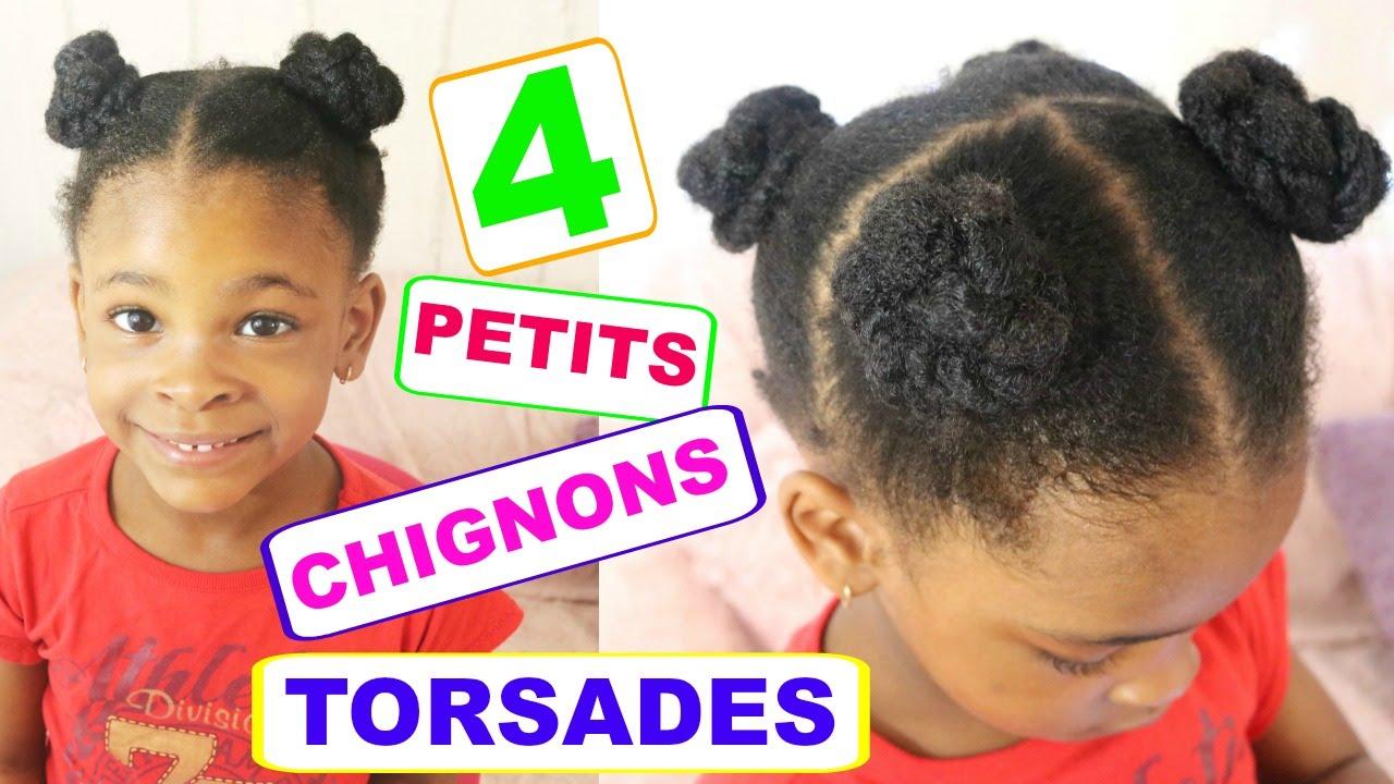 (TUTO) COIFFURE ENFANT  Chignons torsadés sur cheveux afro (Collab avec  Les féeries d\u0027Ambre) , YouTube