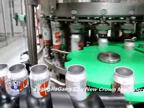 America Soft Drink Soda Aluminum Can Filling Line