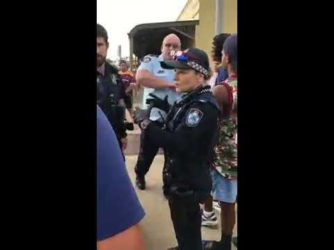 Australian cop attacks two Aboriginal females, one woman and one teen.