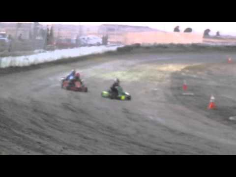 CORA Speedway 8/20/11 flat kart, 2nd heat