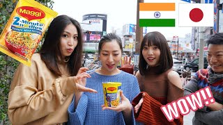 """Japanese People Try """"Maggi"""" for the First Time - Indian Instant Noodles!!"""