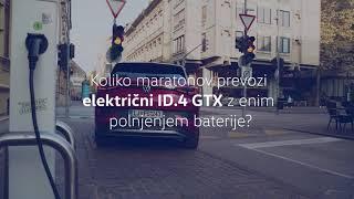 Koliko maratonov prevozi električni ID.4 GTX z enim samim polnjenjem?
