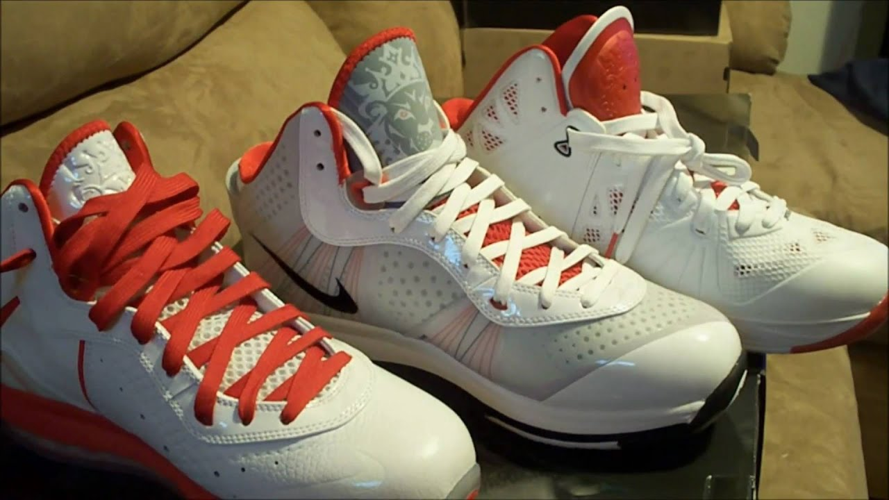 727d127eb0f2 Nike LeBron 8 V1 V2 PS(V3) Comparison - YouTube