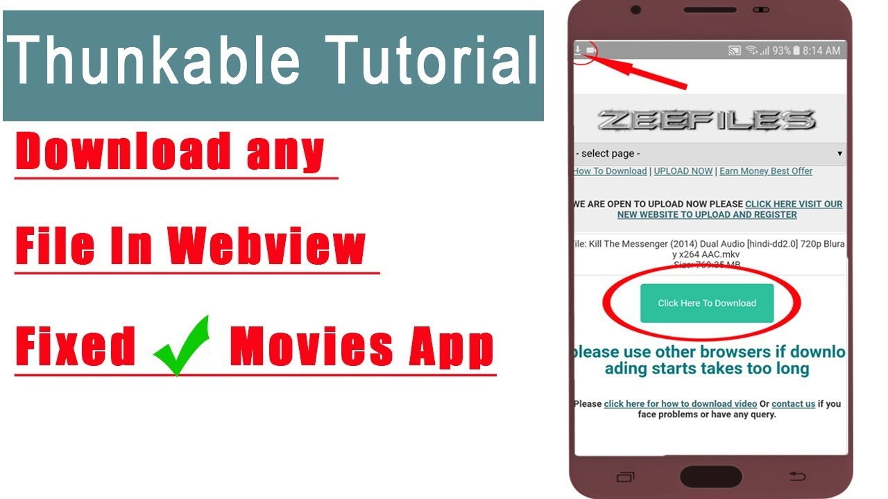 How to make android app in thunkable,fixed download any file in webview