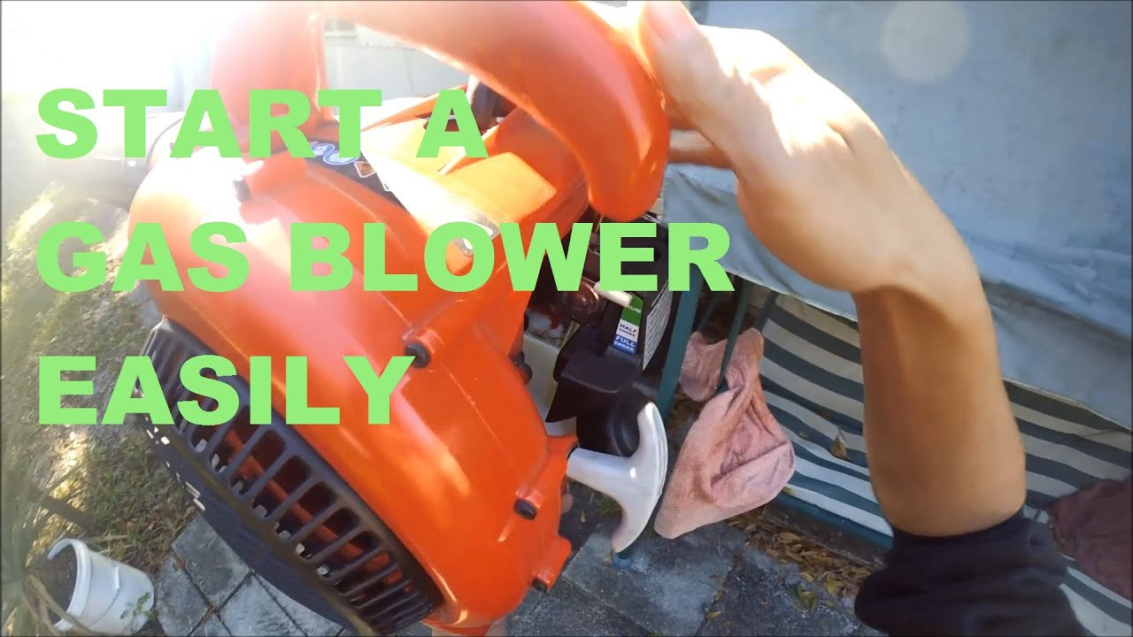 How start a Homelite gas blower or any gas blower