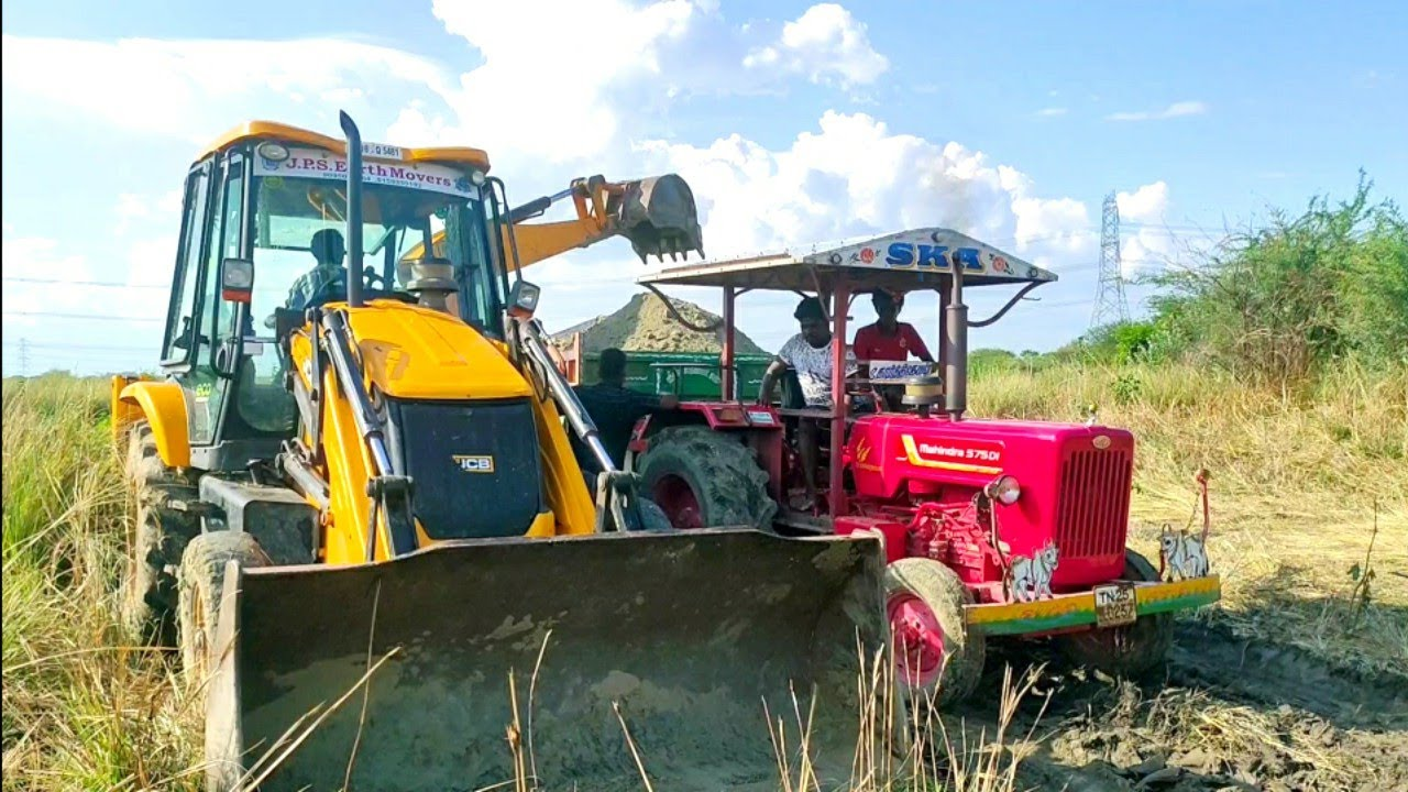 Mahindra 575 di power plus tractor with fully loaded trolley | John Deere tractor power |