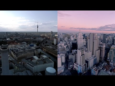 Skyline from Above (sp/berlin from a drone)