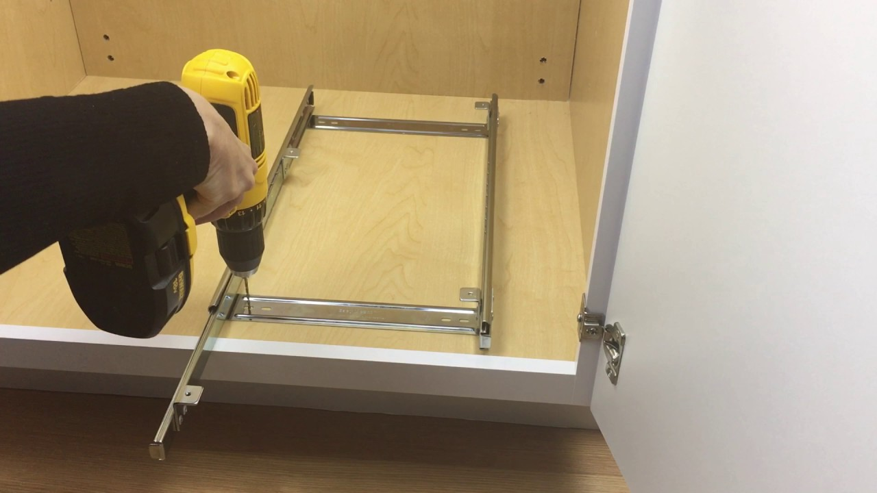 Lynk Professional Roll-out Drawer Installation - YouTube