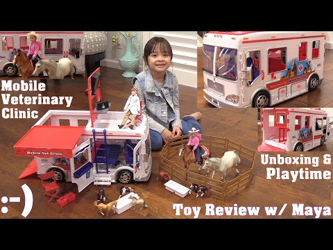 Little Girl's Toys: Kid's Animal Pet Toys. Doctor Pretend Playtime. Toy Dolls and Veterinary Clinic