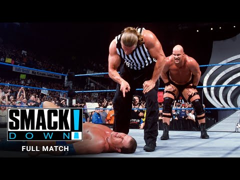 "FULL MATCH - The Rock, ""Stone Cold"" \u0026 Undertaker Vs. Angle, Kane \u0026 Rikishi: SmackDown, Jan. 18, 2001"