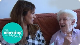 Ferne McCann Visits A Tea Party For The Elderly | This Morning