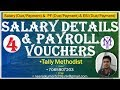 Payroll under Create Salary details, Payroll Voucher entry with Due in tally in hindi part-4
