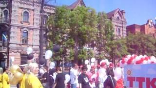 Парад в честь 159-летия Хабаровска