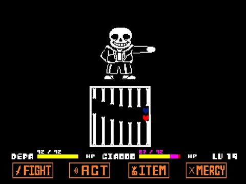 Sans Fight But With Two Players | Undertale Mod WIP