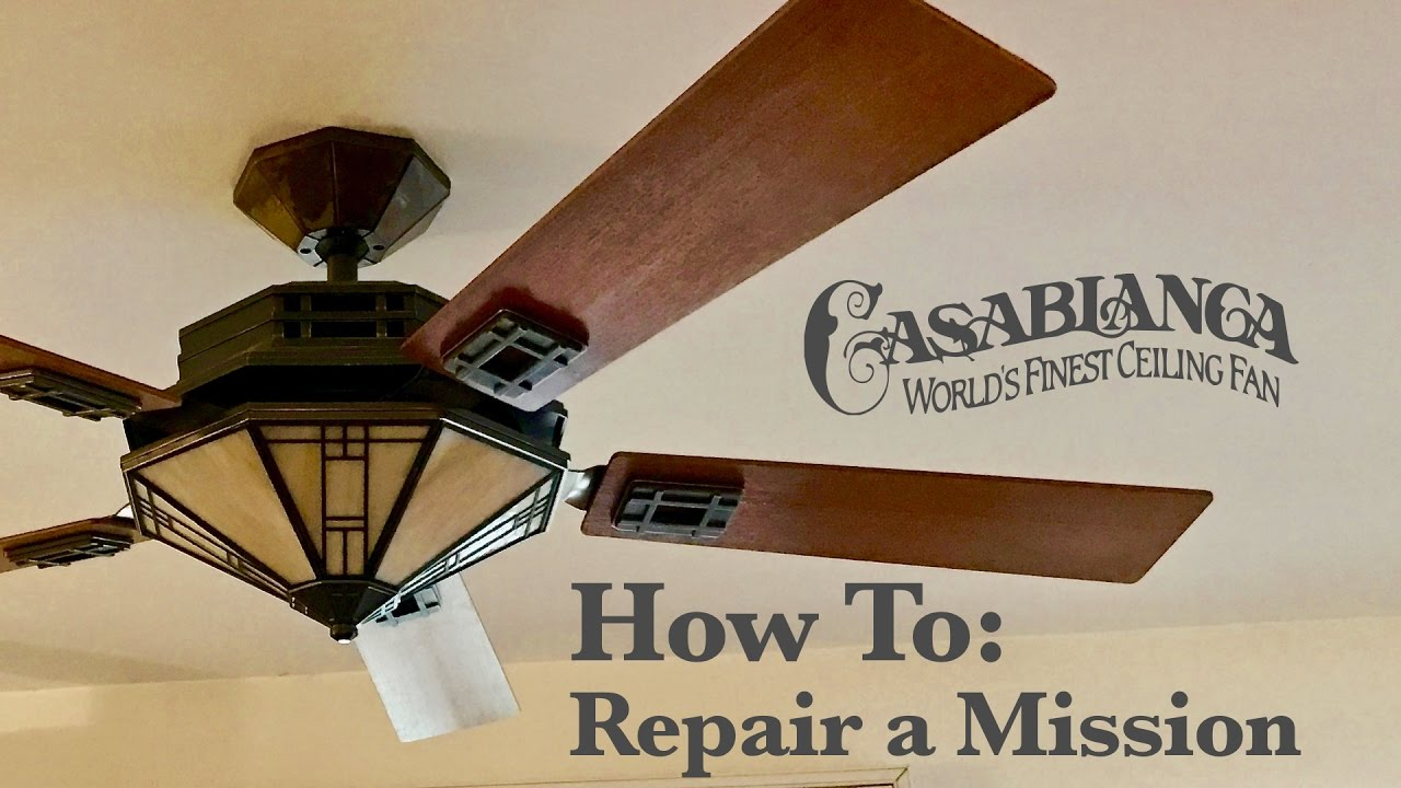 How to repair a casablanca mission that scrapes youtube how to repair a casablanca mission that scrapes aloadofball Choice Image