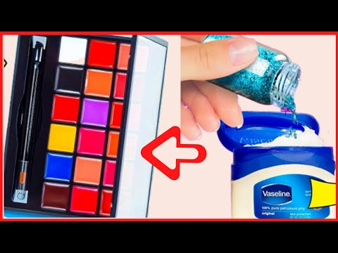 DIY Makeup Items you can easily make yourself | Makeup and Hair Hacks with Vaseline