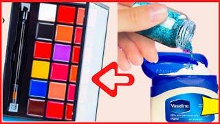 DIY Makeup Items you can easily make yourself | Makeup and Hair Hacks with Vaseline #makeup #DIY