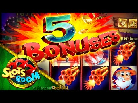 5 BONUSES Where's the GOLD !!! 5c Aristocrat Video Slot in Casino