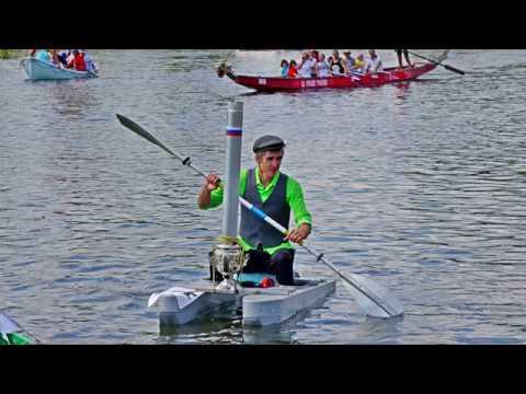 Крези-заплыв на катамаране с самоваром и шуруповертом между ног в Ворсме на Русской Тоскане