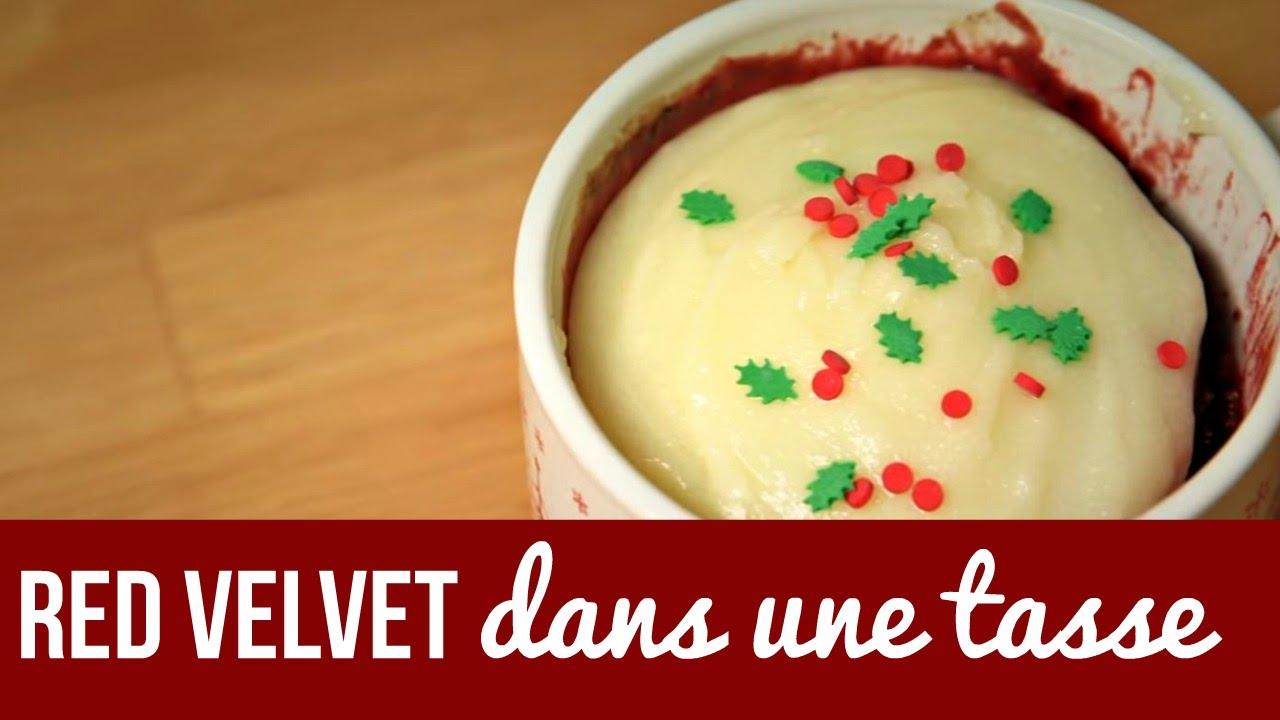 G teau red velvet dans une tasse recette red velvet in a cup recipe youtube - Gateau dans une tasse ...