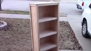 In this video, I will take you step by step through building this beautiful bookcase. While the materials aren