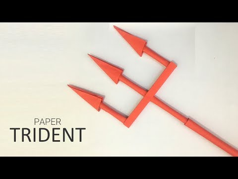 Trident from a4 paper, Origami tutorials