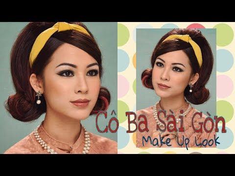 """Trang điểm phong cách """" Cô Ba Sài Gòn """" - 1960s Vintage Makeup"""
