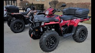 How to install a Polaris Lock and Ride Rear Cargo Box on a 2017 Sportsman 570 SP