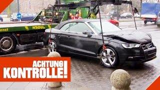 Schwerer als gedacht! Unfall-Audi muss schnell abgeschleppt werden! | Achtung Kontrolle | kabel eins