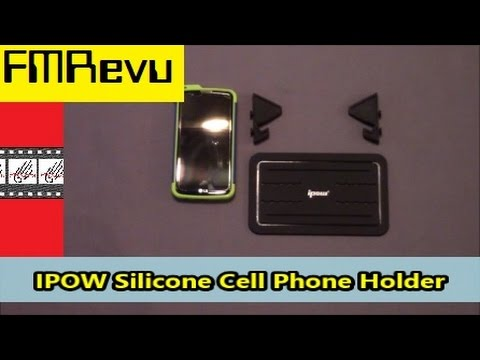 IPOW Silicone Cell Phone Dash Holder With Dashboard Fall Test | IPhone Holder | Smartphone Mat