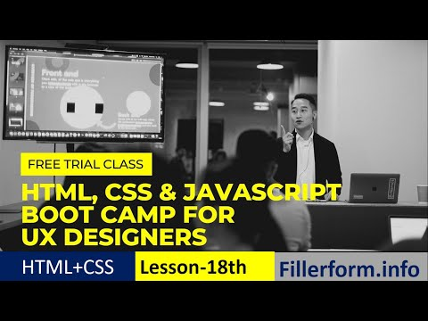 18th Class- Free CSS Class| Html Form Design | Web Development Free Course With Certificate,