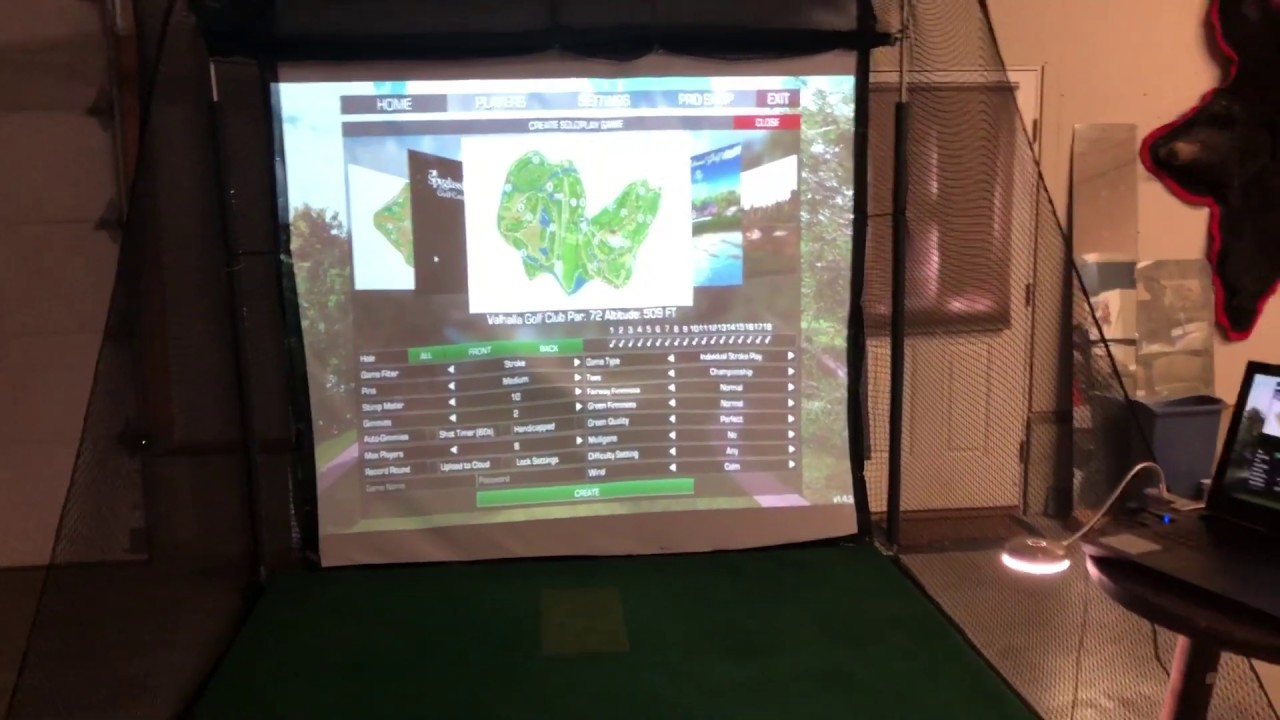 DIY SkyTrak Home Golf Simulator - YouTube