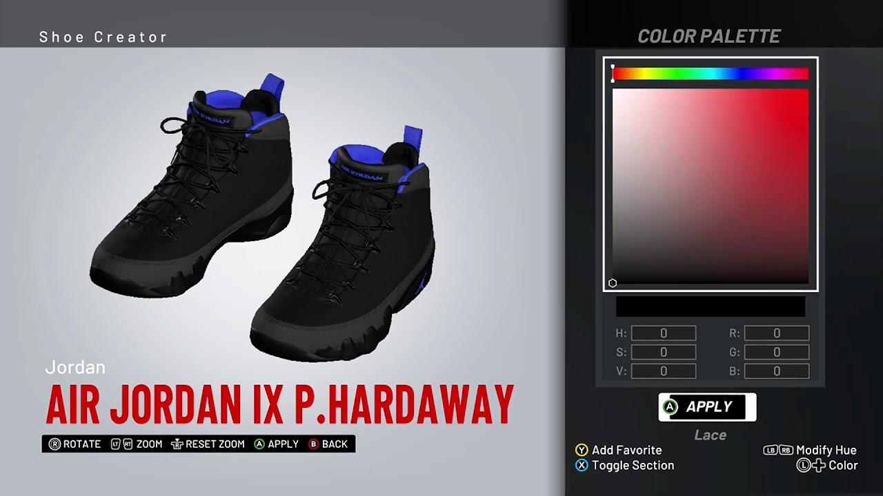 more photos 416d1 bcb0d NBA 2K19 Shoe Creator - Air Jordan 9 PE