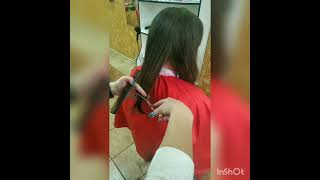 Подровнять волосы женская стрижка Women s haircut Мария Гороховская салон красоты La Familia Бровары
