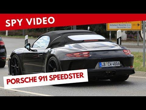 Porsche 911 Speedster 2019 | Spy video (July 2018)