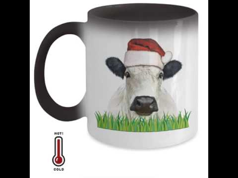 Christmas Cow Color Changing Mug