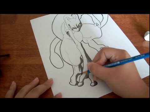 Drawing Mewtwo THE ONE AND ONLY