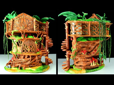 DIY Fairy Tree House | Paper Clay Tutorial