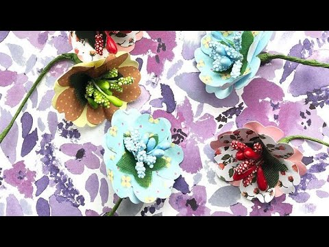 DIY Paper flowers craft tutorial | AntonioMakes